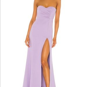 Lavender strapless slit gown 💜 XS brand new tags